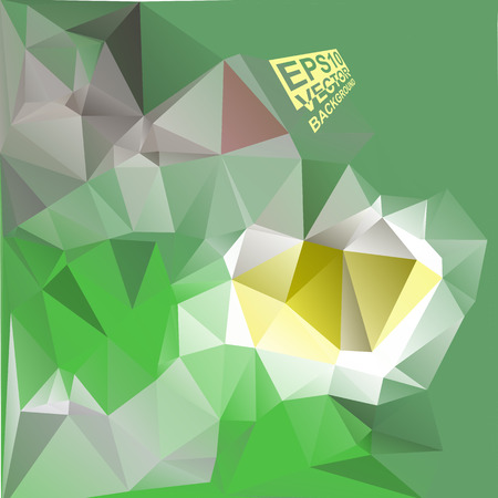 green brown: Multicolor ( Green,Brown,Yellow ) Design Templates. Geometric Triangular Abstract Modern Vector Background.