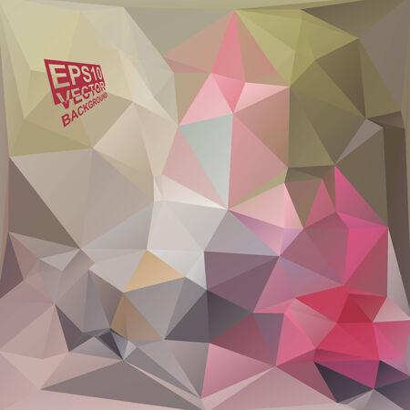 motley: Multicolor (Verde, Grigio, Rosa, Rosso, Motley) per Design. Geometric Background triangolare moderno astratto Vector. Vettoriali