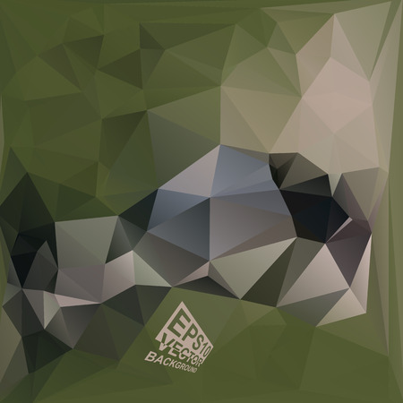 khaki: Multicolor ( Green,Brown,Khaki ) Design Templates. Geometric Triangular Abstract Modern Vector Background.