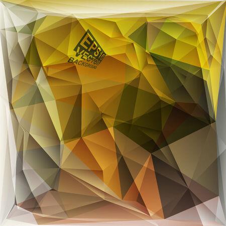 Multicolor ( Green,Brown,Khaki ) Design Templates. Geometric Triangular Abstract Modern Vector Background.