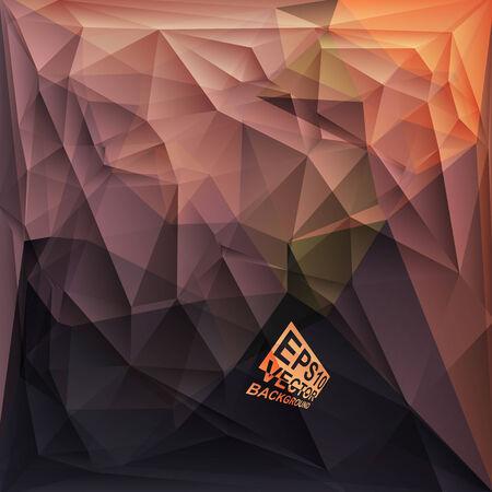 Multicolor ( Brown,Orange,Purple,Violet ) Design Templates. Geometric Triangular Abstract Modern Vector Background. photo