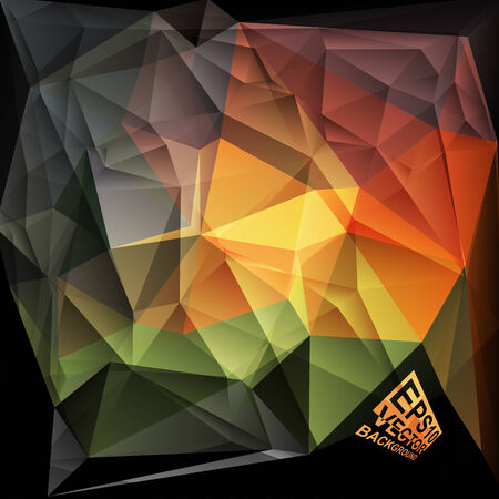 yellow vector: Multicolor ( Green,Red,Orange,Yellow ) Design Templates. Geometric Triangular Abstract Modern Vector Background.