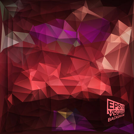 violet red: Multicolor ( Red,Purple,Violet ) Design Templates. Geometric Triangular Abstract Modern Vector Background. Illustration
