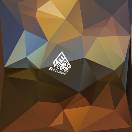 Multicolor ( Brown,Blue,Yellow,Gray ) Design Templates. Geometric Triangular Abstract Modern Vector Background. Vector