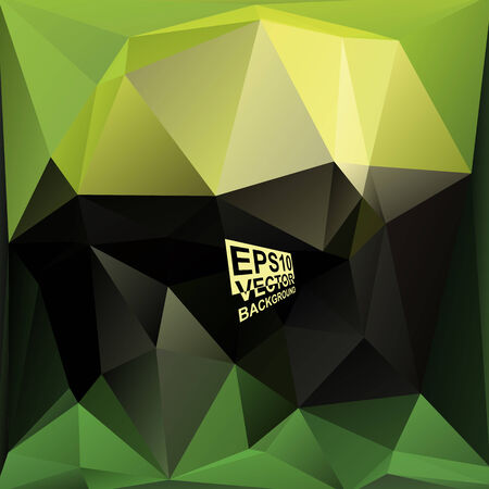 black and yellow: Multicolor ( Green,Black,Yellow ) Design Templates. Geometric Triangular Abstract Modern Vector Background.