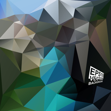 Multicolor ( Blue,Green,Brown,Black ) Design Templates. Geometric Triangular Abstract Modern Vector Background. Vector