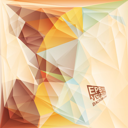 Multicolor ( Yellow,Orange,Brown,Blue ) Design Templates. Geometric Triangular Abstract Modern Vector Background. Vector