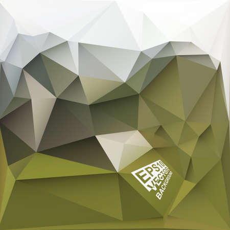 Multicolor ( Green,Brown,White,Khaki ) Design Templates. Geometric Triangular Abstract Modern Vector Background.