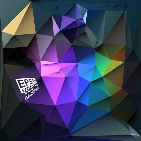 motley: Multicolor ( Blue,Purple,Violet,Green,Motley ) Design Templates. Geometric Triangular Abstract Modern Vector Background. Illustration