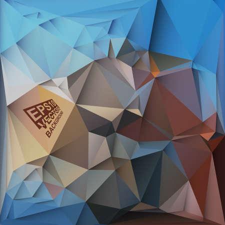 motley: Multicolor (Blu, Marrone, Caff�, Motley) per Design. Geometric Background triangolare moderno astratto Vector.