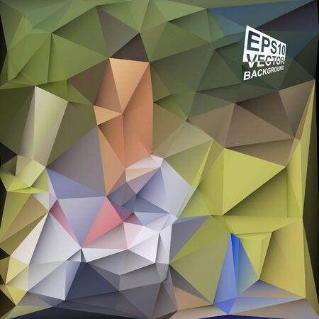 motley: Multicolor (verde, marrone, blu, viola, Motley) per Design. Geometrico sfondo triangolare moderna astratta vettore. Vettoriali