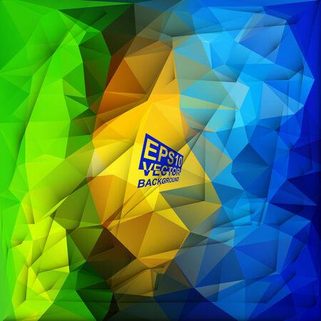 motley: Multicolor (verde, blu, giallo, Motley) per Design. Geometric Background triangolare moderno astratto Vector.