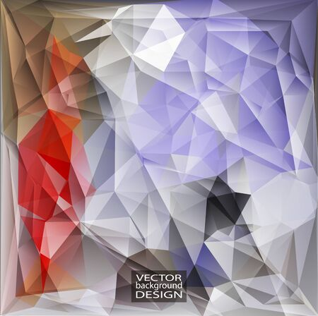 violet red: Multicolor ( Red, Gray, Violet ) Design Templates. Geometric Triangular Abstract Modern Vector Background.