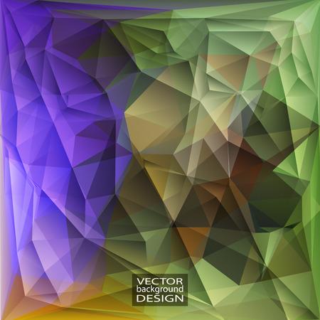 verde y morado: Multicolor ( Green, Purple, Violet, Brown ) Design Templates. Geometric Triangular Abstract Modern Vector Background.