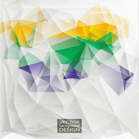 verde y morado: Multicolor (amarillo, verde, p�rpura) Plantillas de dise�o. Fondo geom�trico triangular abstracta moderna del vector.