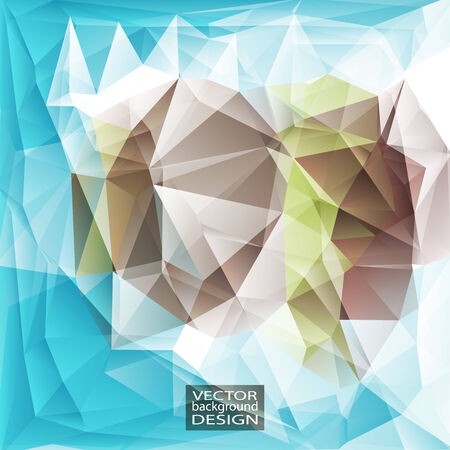 green brown: Multicolor ( Blue, Green, Brown ) Design Templates. Geometric Triangular Abstract Modern Vector Background.