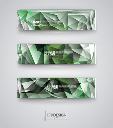 Web design templates. Set of Banners with ... Backgrounds. Geometric  Abstract Modern Vector Illustration. Vector