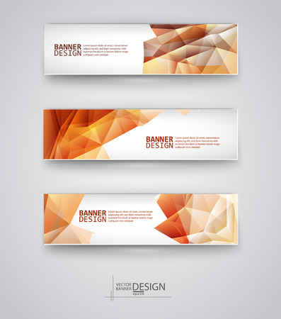 Web design templates. Set of Banners with ... Backgrounds. Geometric  Abstract Modern Vector Illustration. Illustration