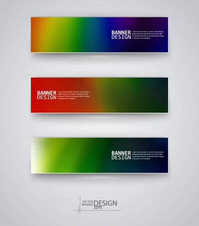 background cover: Business design templates. Set of Banners with Multicolored Blured Backgrounds. Unfocused Abstract Modern Vector Illustration. Illustration
