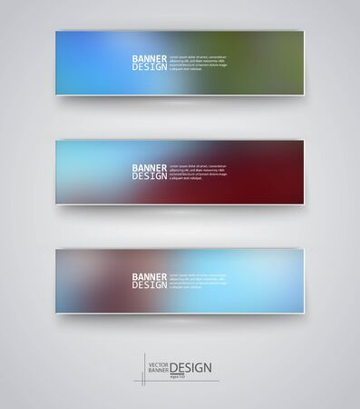 unfocused: Business design templates. Set of Banners with Multicolored Blured Backgrounds. Unfocused Abstract Modern Vector Illustration. Illustration