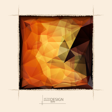Multicolor Design Templates. Geometric Triangular Abstract Modern Vector Background. square ragged hole on coffee wall. Illustration