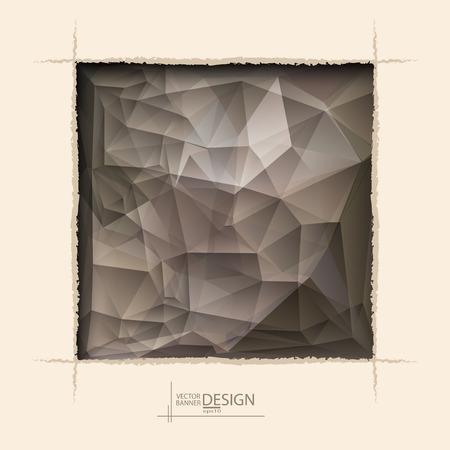 roztrhaný: Vícebarevná design šablony. Geometrické Trojúhelníkový abstraktní moderní vektorové pozadí. čtvercový otvor otrhaný kávy zeď.