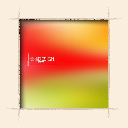 hole in wall: Multicolor Design Templates. Blurred Abstract Modern Vector Background. square ragged hole on coffee wall.