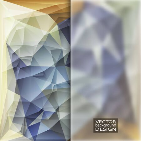 in insert: Multicolor Design Templates with Frosted Glass Insert. Geometric Triangular Abstract Modern Background.
