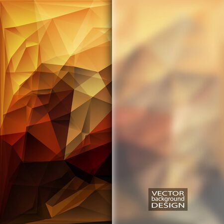 frosted: Multicolor Design Templates with Frosted Glass Insert. Geometric Triangular Abstract Modern Background.