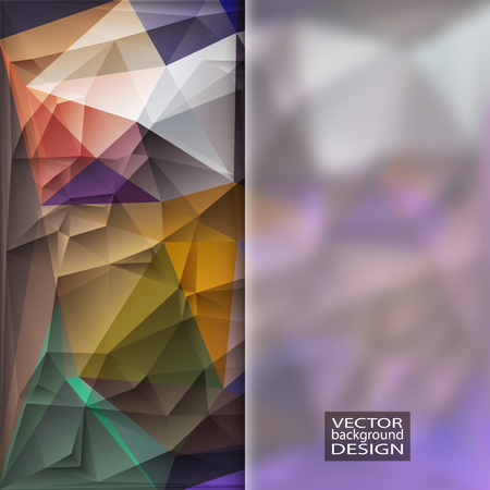 gloss banner: Multicolor Design Templates with Frosted Glass Insert. Geometric Triangular Abstract Modern Background.