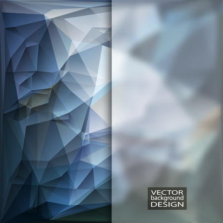 blue design: Multicolor Design Templates with Frosted Glass Insert. Geometric Triangular Abstract Modern Background.