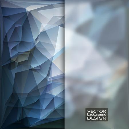 fondos azules: Plantillas del dise�o multicolor con vidrio esmerilado Insertar. Geom�trico Fondo Moderno Triangular abstracta.