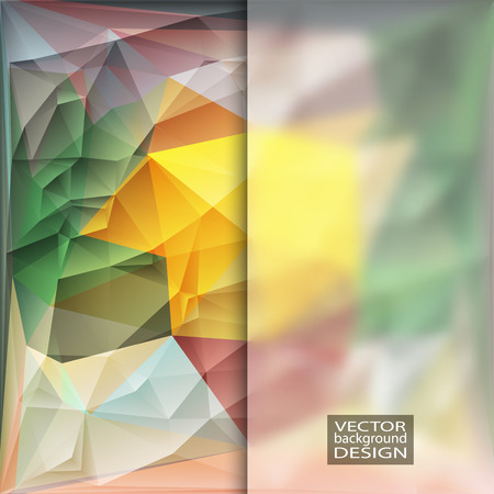 shatter: Multicolor Design Templates with Frosted Glass Insert. Geometric Triangular Abstract Modern Background.