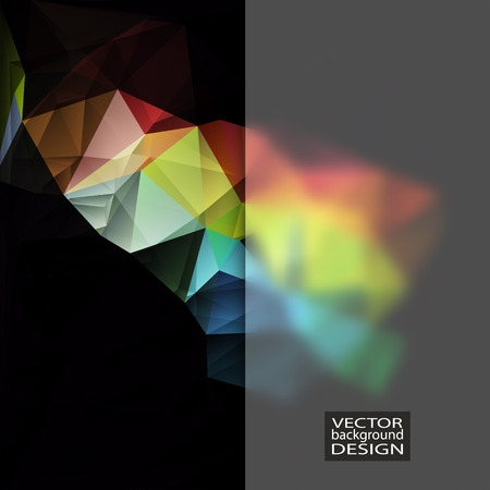 Multicolor Design Templates with Frosted Glass Insert. Geometric Triangular Abstract Modern Background.