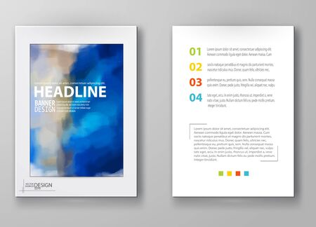 water color: Business design templates. Brochure with Multicolored Blurred Backgrounds. Abstract Modern Vector Illustration.