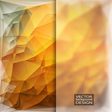 in insert: Multicolor Design Templates with Frosted Glass Insert. Geometric Triangular Abstract Modern Vector Background.