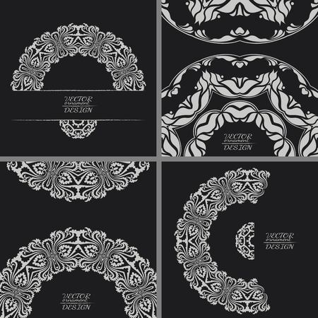 elegant white: Abstract lace pattern background with place for text. Ornate element for design. Ornamental pattern for wedding invitations. Greeting cards. Vector illustration.
