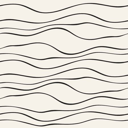 skinny: Abstract seamless pattern with wave lines. Hand drawn graphic. Simple stylized texture of covering. Vector illustration.