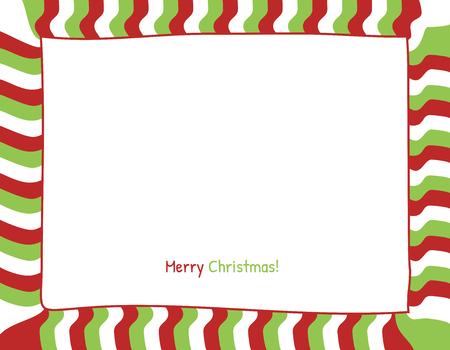 red christmas background: Christmas Red and Green Strips Background. Photo Frame Border, Scrapbook Embellishment. Vector Illustration.