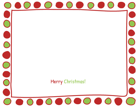 christmas red: Christmas Red and Green Circle Background. Photo Frame Border, Scrapbook Embellishment. Vector Illustration.