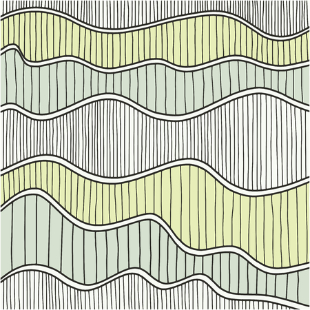 crimp: Hand drawn abstract wave pattern. Vector illustration.