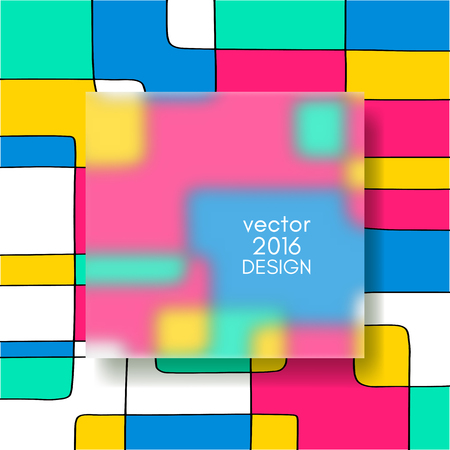 opaque: Multi color Design Templates with Frosted Glass Insert. Geometric Abstract Modern Background. Illustration