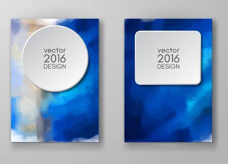 Business-Design-Vorlagen. Broschüre mit bunten Blurred Hintergründe. Abstrakte moderne Vektor-Illustration.
