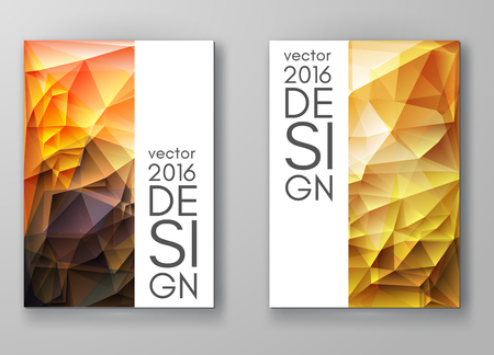 business abstract: Business design templates. Brochure with Multicolored Polygonal Mosaic Backgrounds. Geometric Triangular Abstract Modern Vector Illustration.