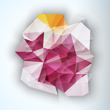 Multicolor Ontwerp Templates. Geometrische driehoekige Spot Abstracte Moderne Achtergrond. Crystal Jewelry Gem. Vector Illustratie