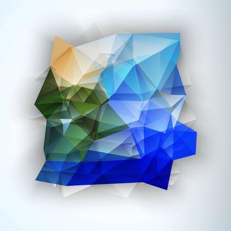 Multicolor ontwerpsjablonen. Geometrische driehoekige vlek abstracte moderne achtergrond. Crystal Jewelry Gem. Vector illustratie Vector Illustratie