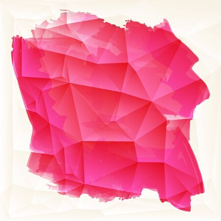 ruby: Abstract artistic Background with watercolor element. Vector illustration. Stock Photo