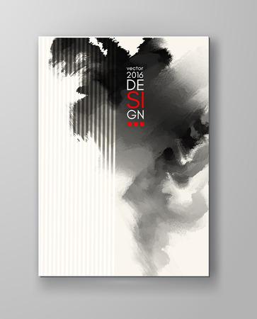 inkblot: Abstract inkblot background. Monochrome grunge paint design. Vector illustration. Illustration