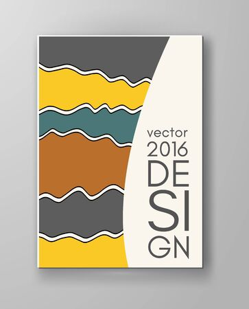 web template: Abstract design templates. Brochures unusual color shapes style. Vintage frames and backgrounds. Vector Illustration. Illustration