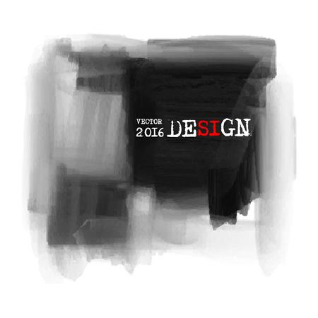 ink spill: Abstract inkblot background. Monochrome grunge paint design. Vector illustration. Illustration